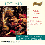 Produktbilde for Leclair: Violin Concertos, Vol. 1 (CD)