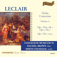 Produktbilde for Leclair: Violin Concertos, Volume 2 (CD)