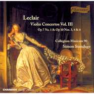 Produktbilde for Leclair: Violin Concertos, Vol. III (CD)