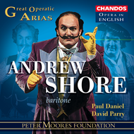 Produktbilde for Andrew Shore sings Great Operatic Arias (CD)