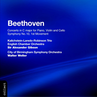 Produktbilde for Beethoven: Triple Concerto; Symphony No. 10 - lst movement (CD)