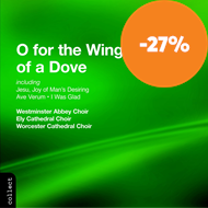 Produktbilde for O for the wings of a dove (CD)