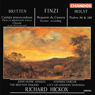 Produktbilde for Britten, Finzi & Holst: Choral works (CD)