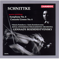 Produktbilde for Schnittke: Symphony No 8; Concerto Grosso No 6 (CD)