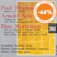 Produktbilde for Hindemith/Schoenberg/Mortensen: Works for Piano/Violin and Soprano (CD)