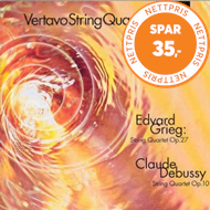 Produktbilde for Debussy & Grieg: String Quartets (CD)