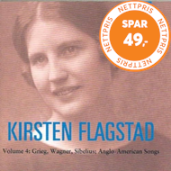 Produktbilde for Kirsten Flagstad, Vol.4: Grieg, Wagner, Sibelius, Anglo-American Songs (CD)