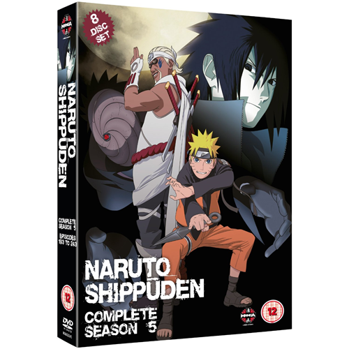 Naruto Shippuden - The Complete Series 5 (UK-import) (DVD)