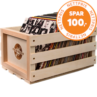 Crosley Record Storage Crate (LP - PLASTLOMMER OG OPPBEVARING)