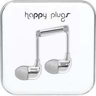 Happy Plugs - In-Ear Silver (HEADSET)