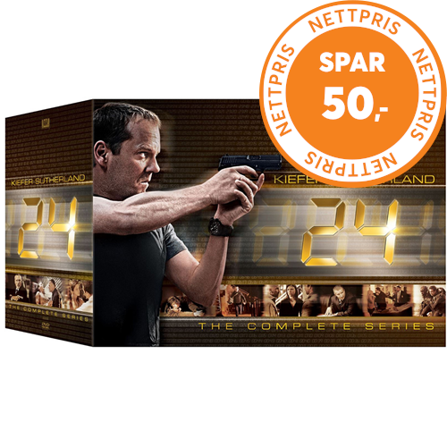 24 - Sesong 1-9 + Redemption: Complete Box Set (DVD)