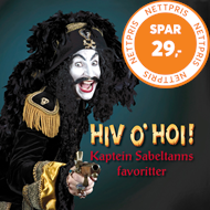 Produktbilde for Hiv O' Hoi! Kaptein Sabeltanns Favoritter (2CD)