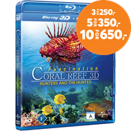 Produktbilde for Fascination - Coral Reef: Hunters And The Hunted (DK-import) (Blu-ray 3D + Blu-ray)