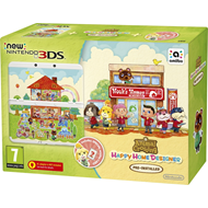 New Nintendo 3DS White + Animal Crossing: Happy Home Designer Pack