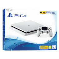 Playstation 4 - 500GB Slim (Hvit)